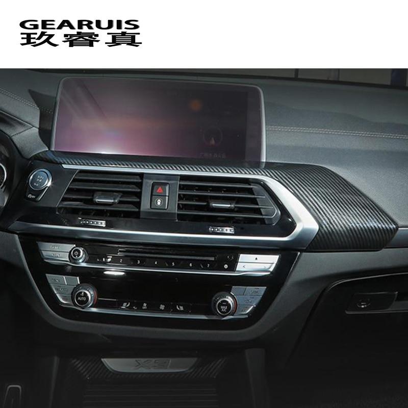 Estilo do carro de navegação centro console tomada quadro decorativo tira capa adesivos guarnição para bmw x3 g01 interior acessórios automóveis