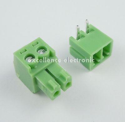 100 Pcs 3.81 milímetros Pitch 2 Ângulo Pin Screw Pluggable Terminal Bloco Conector