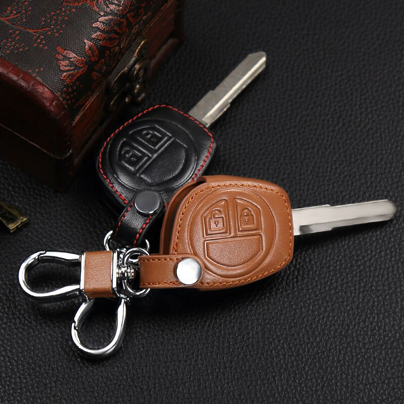 2017 High quality leather 2 button remote control key set for Suzuki sx4 swift liana large vitara cover, car styling