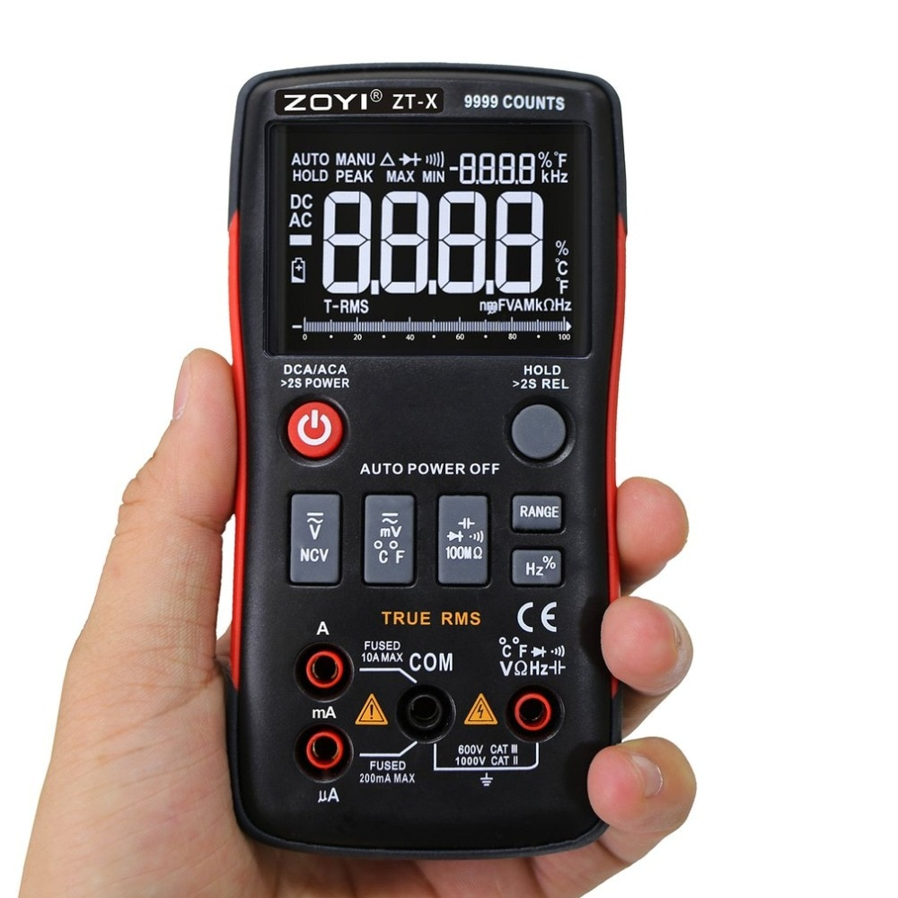ZT Digitale Icd Multimeter True RMS Auto Range Mastech Test Diode Multimeter ac dc multimetro 409 sanwa sonde test blei dropship
