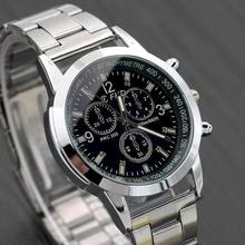Men's Watch Reloj Hombre Relogio Masculino Stainless Steel Calendar Quartz Wristwatch Men Sports Wat