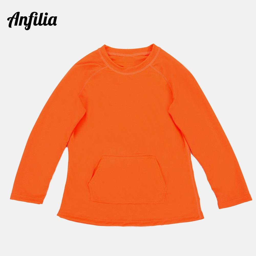 Anfilia, camisetas de secado antiestrés para niños, camiseta de manga larga antisarpullidos, traje de baño deportivo UPF 50 + camisas para nadar, ropa de playa