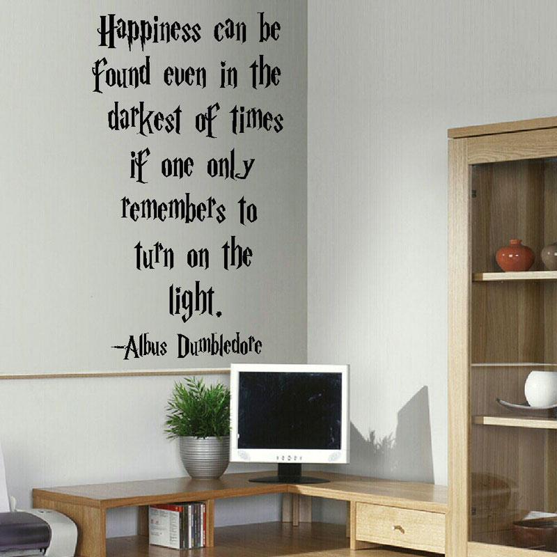 J K Rowling película citas inspiradoras anime ventilador de película vinilo pegatinas de pared decoración del hogar pegatinas de pared DY43