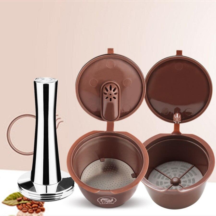Filtro de cápsula de café Crema actualizado 3ª Generación de dos tipos para Dolce Gusto cestas reutilizables rellenables 41mm Tamper