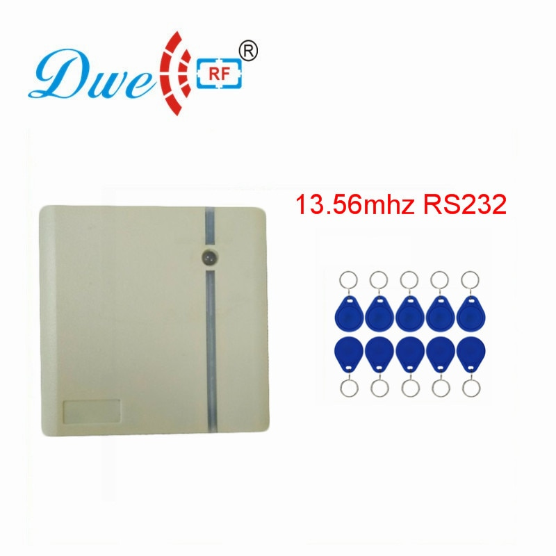 DWE CC RF tarjeta de proximidad Rfid Reader 13,56 mhz MF Wiegand RS232 RS485 escáner para el sistema de Control de acceso D203M