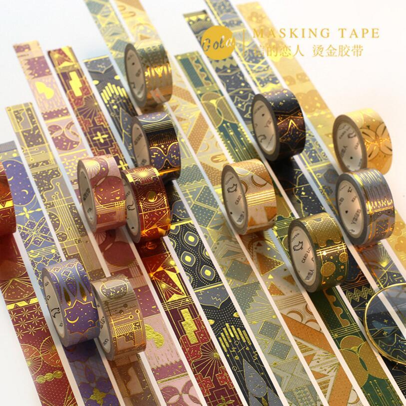 Magical universe mysterious divination Aladdin Europe Gold Pattern Vintage Gilding decoration washi Tape Set DIY masking tape