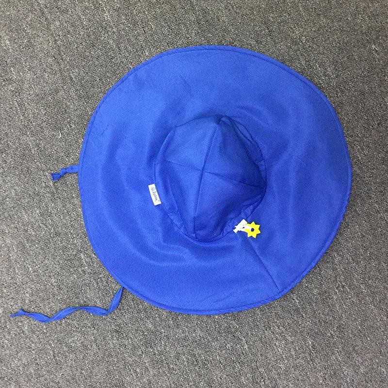 Baby girl hat 2019 spring summer autumn girl cute wind sun hat blue white hat baby sunshade hat single piece