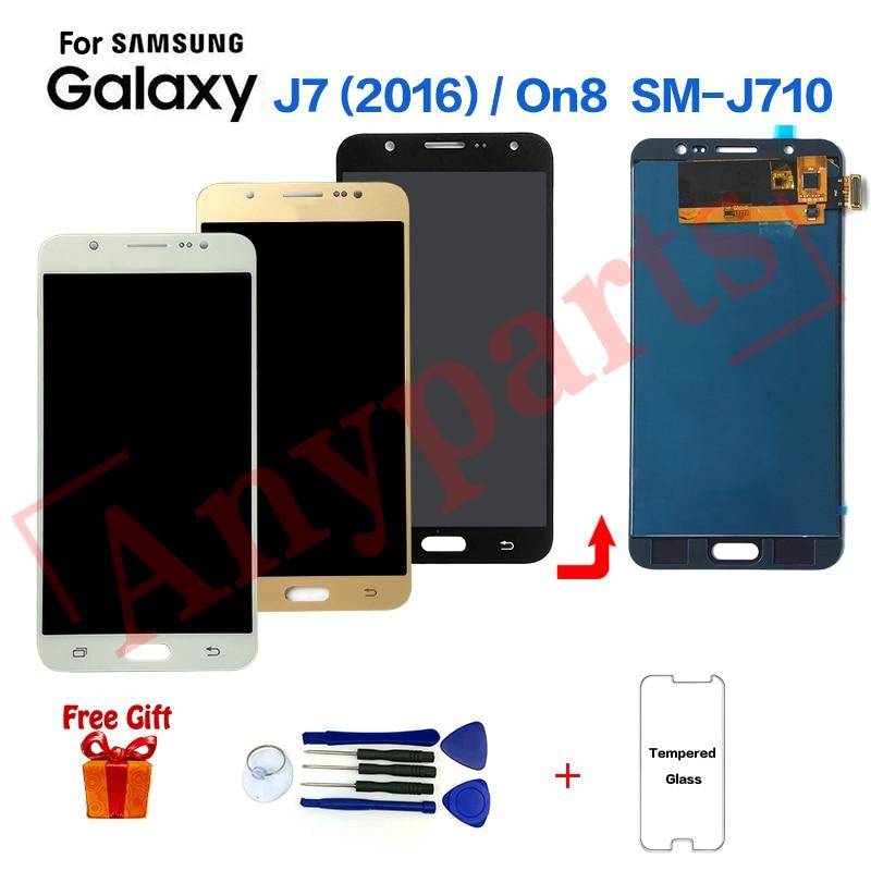 Para Samsung Galaxy J7 2016 SM-J710F reemplazo de la pantalla LCD de pantalla para Samsung On8 SM-J710FZ J710K J710MN Módulo de pantalla