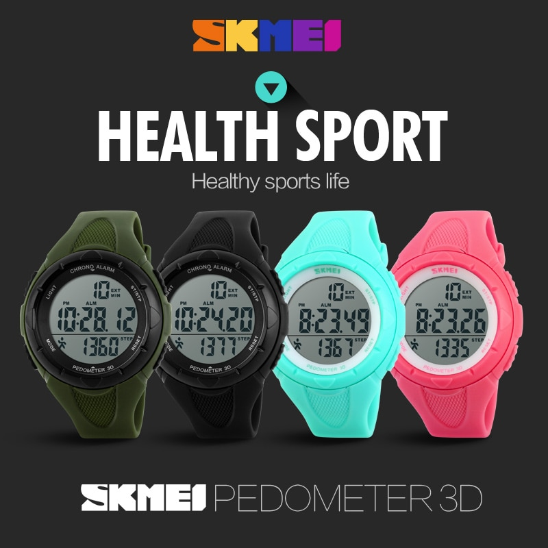 SKMEI New 2019 Popular Brand Watches Women Fashion Sport Digital LED Watch Pedometer Montre Femme Female Clock Ladies WristWatch enlarge