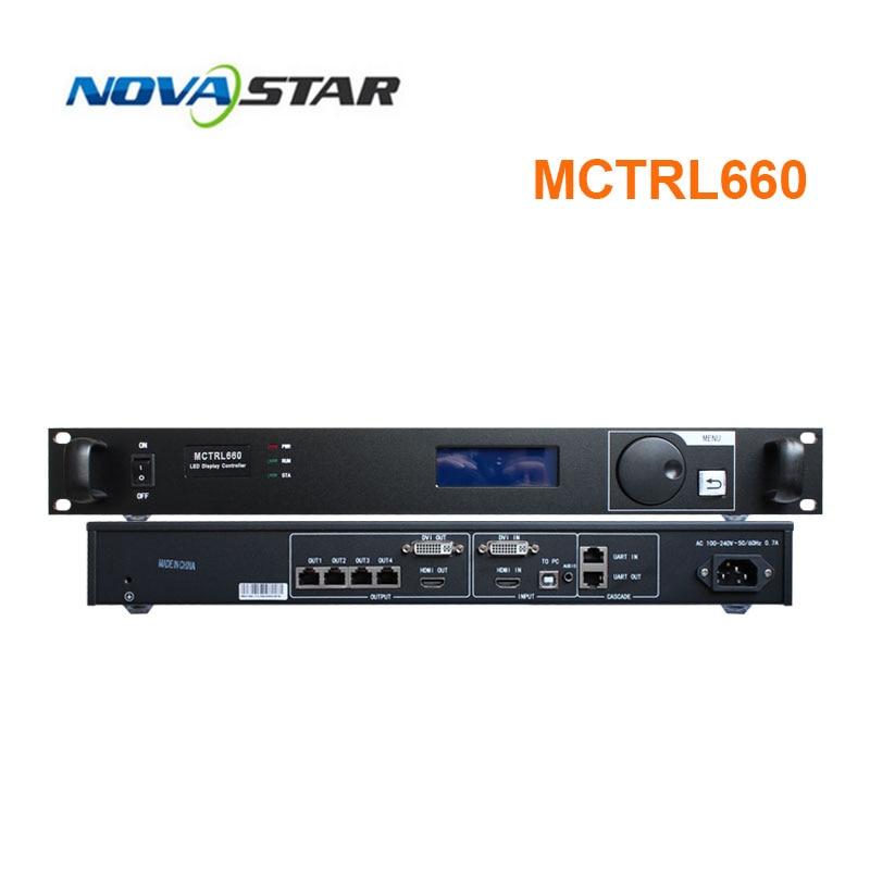 Mctrl660 شاشة led تحكم إرسال علبة كرتون nova لمعالج الفيديو DVI كامل اللون شاشة led لخدمة تأجير العرض