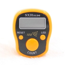 Mini Finger Counter with 100 times Alarm LCD Electronic Digital Tally Counter For Sewing Knitting we