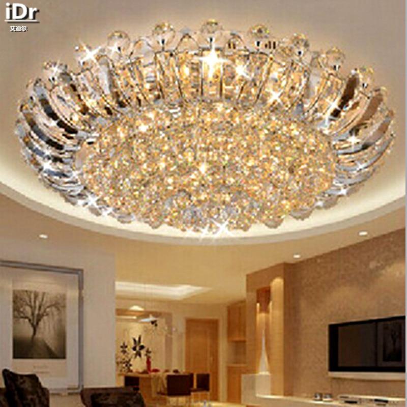 European-style luxury crystal ceiling circular living room lights LED lighting Bedroom Ceiling Lights Rmy-007