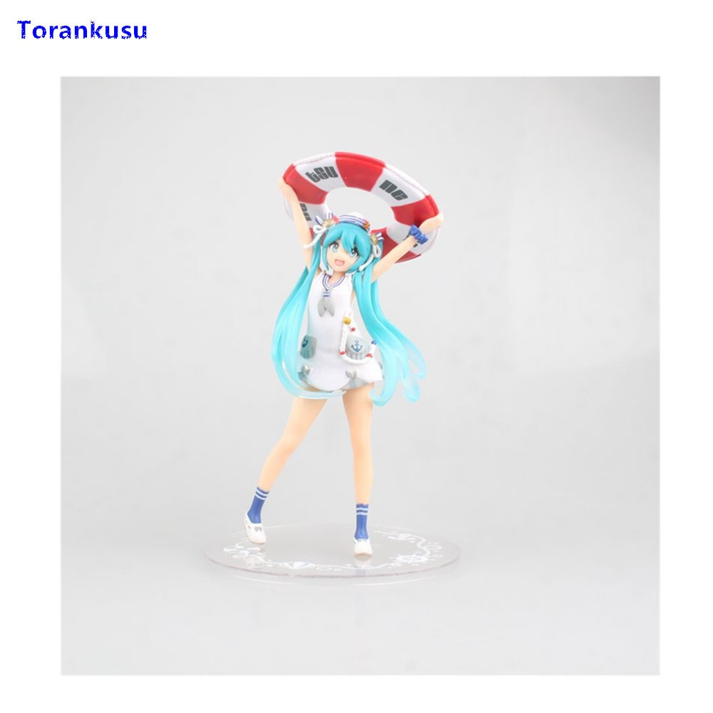Figuras de acción de hasune Miku, bañador Sexy de Miku, figura Kawaii de Anime en PVC, muñecos de regalo para niños, Figma