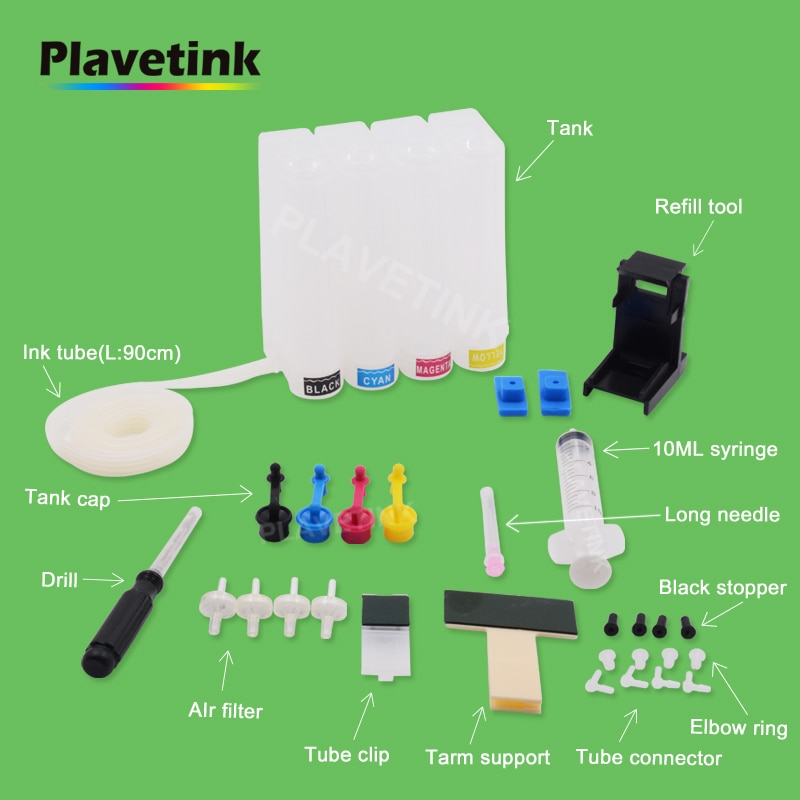 Plavetink Diy Ciss, sistema de tinta para Canon PG 40 CL 41 XL Ciss tanque Kit de Pixma IP2580 IP2600 MP210 MP450 MP470 MX308 MX318 impresora
