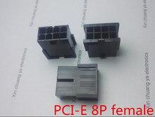 5559 4.2mm zwart 8 P vrouwelijke voor PC computer ATX videokaart GPU PCI-E PCIe Power connector plastic shell geen oor type Behuizing