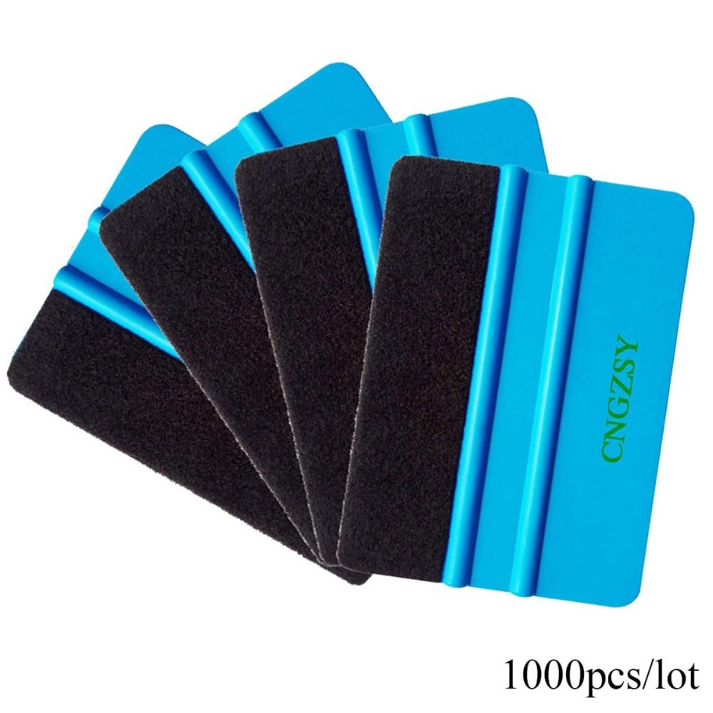 CNGZSY 1000pcs Felt Squeegee Vinyl Car Wrap Tool Carbon Fiber Foil Vinyl Scraper Window Tint Tools Glass Cleaning Tool Brush A02