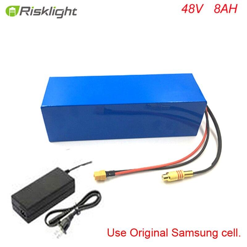 Bafang-batería de litio eléctrica para bicicleta, 48V, 500W, 750W, 48V, 8Ah