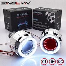 Sinolyn Koplamp Lenzen Bi-Xenon Projector Lens 2.5 Angel Devil Eyes Led Drl Tuning Voor H4 H7 Autolichten accessoires Retrofit