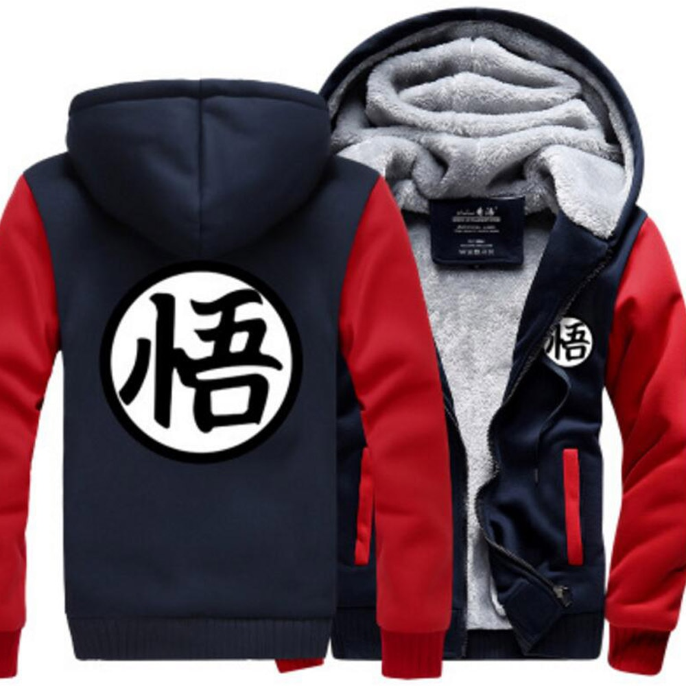 Dragon Ball Z Anime Goku DBZ kame Kanji traje Saiyajin espesar fleeve con capucha chaqueta de abrigo