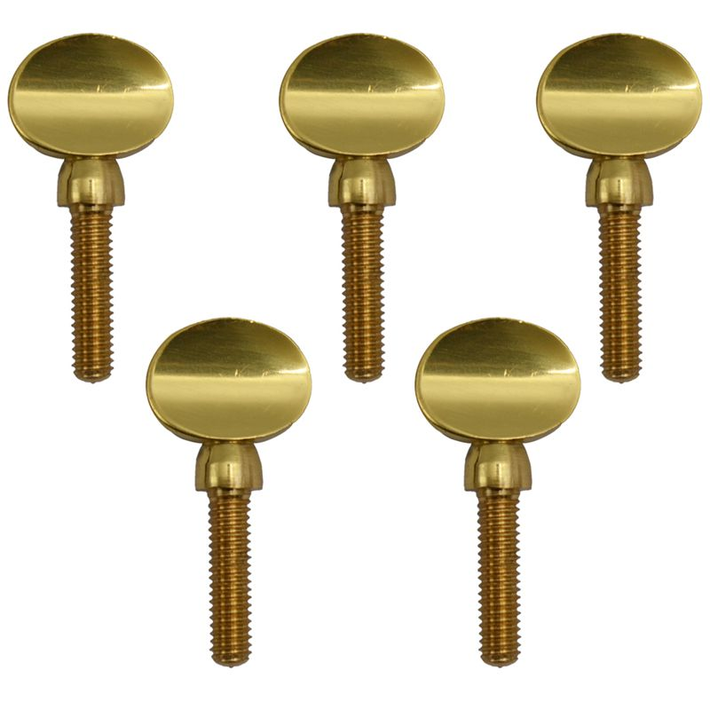 Gold Copper Clarinet Saxophone Sax Neck Tightening Screws Soprano Alto Tenor Woodwind Instrument Parts Pack of 5
