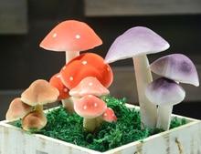 Imitation polymeat artificial green plant household decoration high imitation 3 head foam mushroom