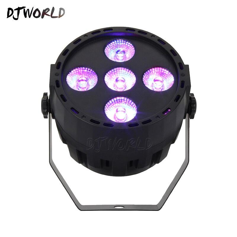 Мини LED Par 5x10 Вт RGBW DMX512 сценическое освещение для диско DJ для домашней вечеринки на день рождения танцевальный пол рождественские украшения для клубов
