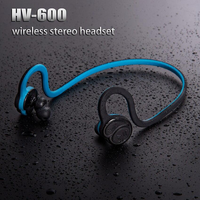 Aimitek HV600 Neckband Bluetooth Earphone Wireless Stereo Headphone Handsfree Headset Sports Earbuds with Mic For Smartphone
