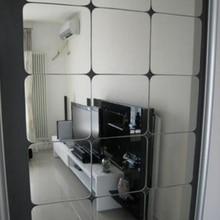 Stickers muraux 3 D en forme de miroir   Sticker mosaïque, Angle en Obtuse carré, décoration de la salle de maison, bricolage pour salon, cadeau pour la véranda, 6 pièces