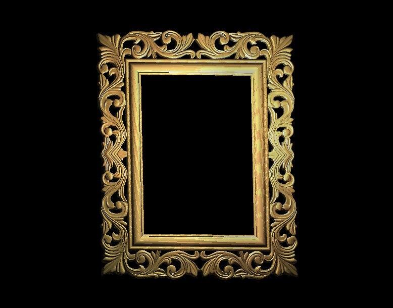 digital file frame 3d model relief for cnc in STL file format F149