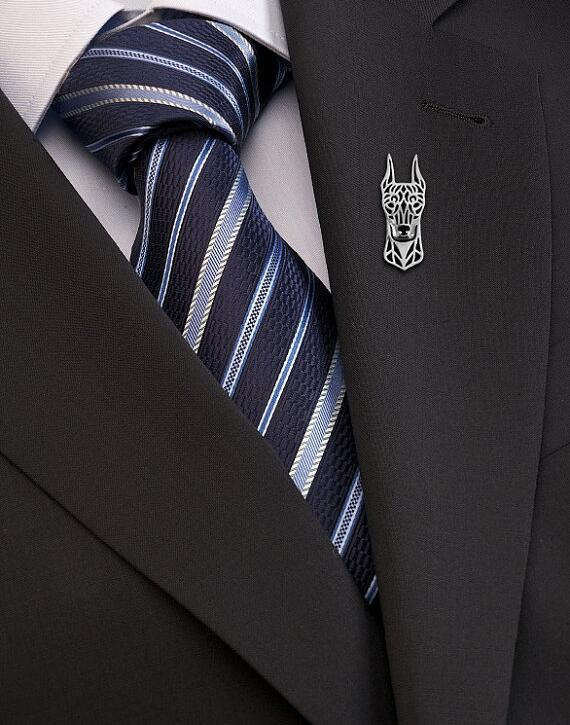Venta al por mayor estándar Manchester Terrier (pantalones oídos) broche mujer/hombre regalo joyería. 12 unids/lote