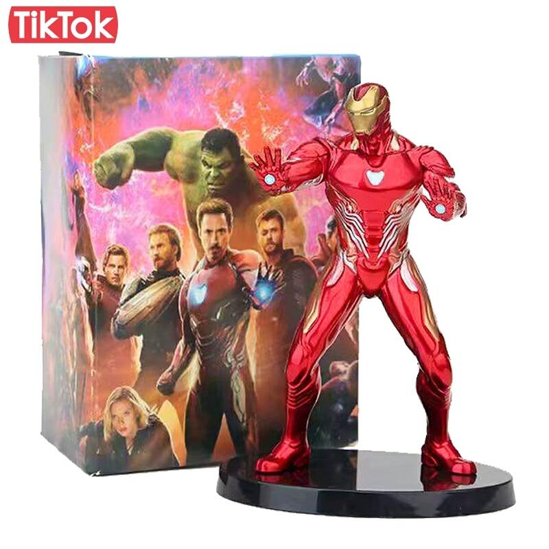 Movie Iron Man Mark 50 Tony Stark Avengers Infinity War Cartoon Toy Action Figure Model Doll Gift