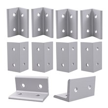 10 piezas 4 agujeros serie 3060 soporte de esquina interior para perfil de extrusión de aluminio 30x30x26mm con ranura 8mm
