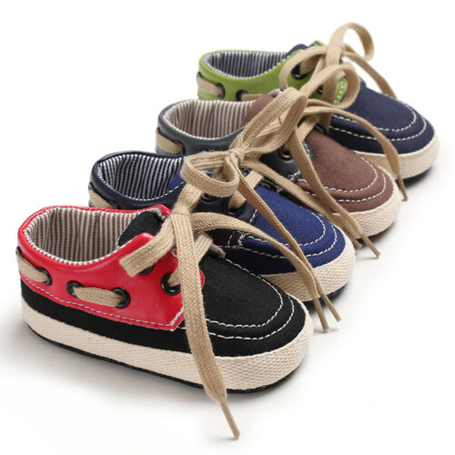 Bebé niño niñas blanco zapatillas de suela suave cuna Zapatos recién nacido a 18 meses