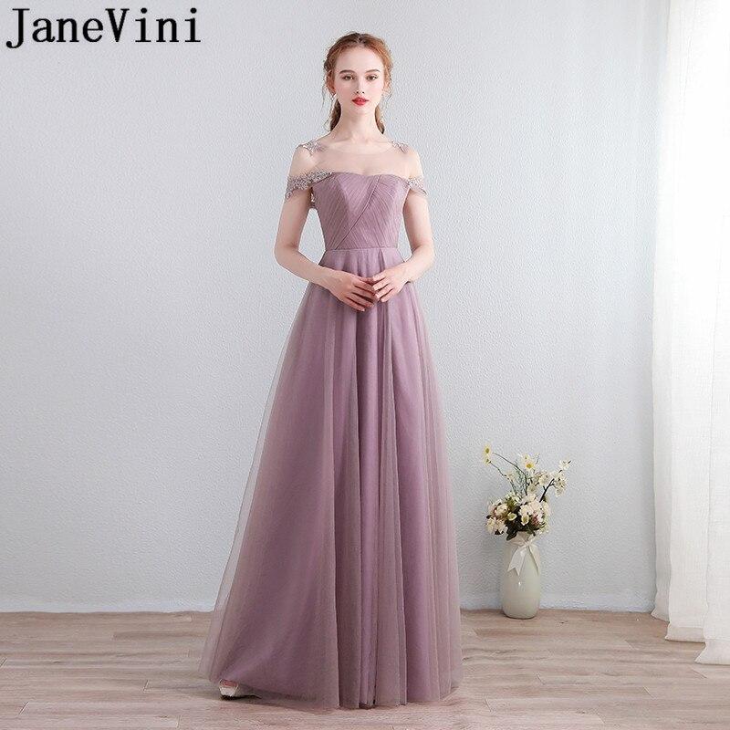 JaneVini-Vestidos rosas de encaje largo para mujer, Vestidos de tul sexys de...