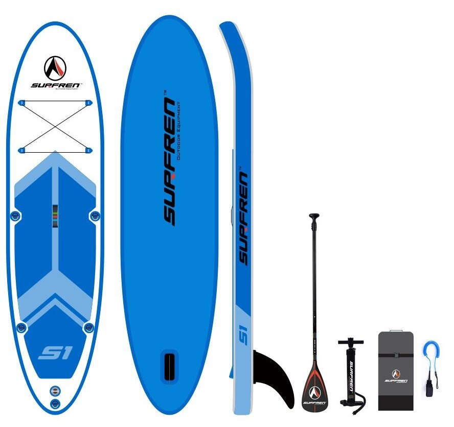 Inflatable Surf Stand Up Sup paddle board iSUP SurfingPaddleboard SURFREN AllRoundwakeboard bodyboard kayakboat size300*76**13cm