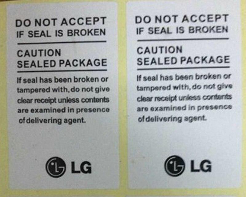 100 PCS/lote haute qualite autocollant pour LG Seal becomes Label pour LG F100 F180 F200 G1 to G2 Seal sticker
