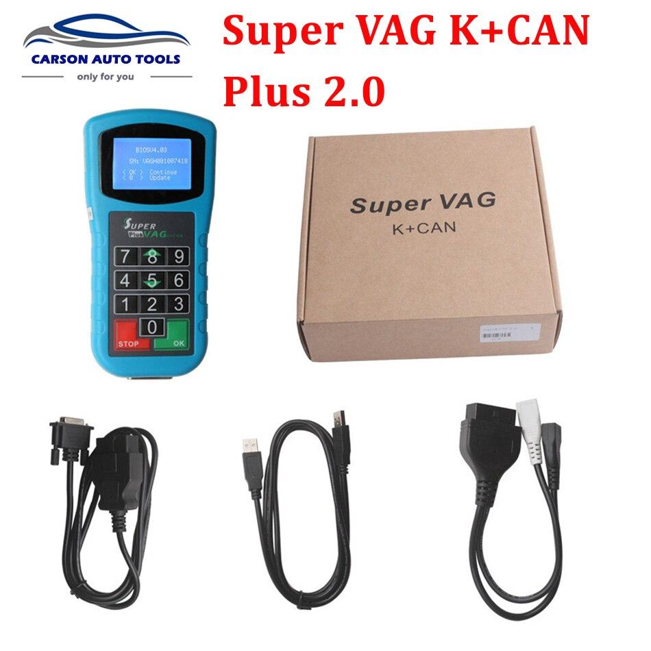 Автостайлинг Super vag kcan 2,0 диагностический прибор для коррекции пробега VAG + K CAN Pluscode считыватель ключей программатор 2,0 super k + can plus 2,0