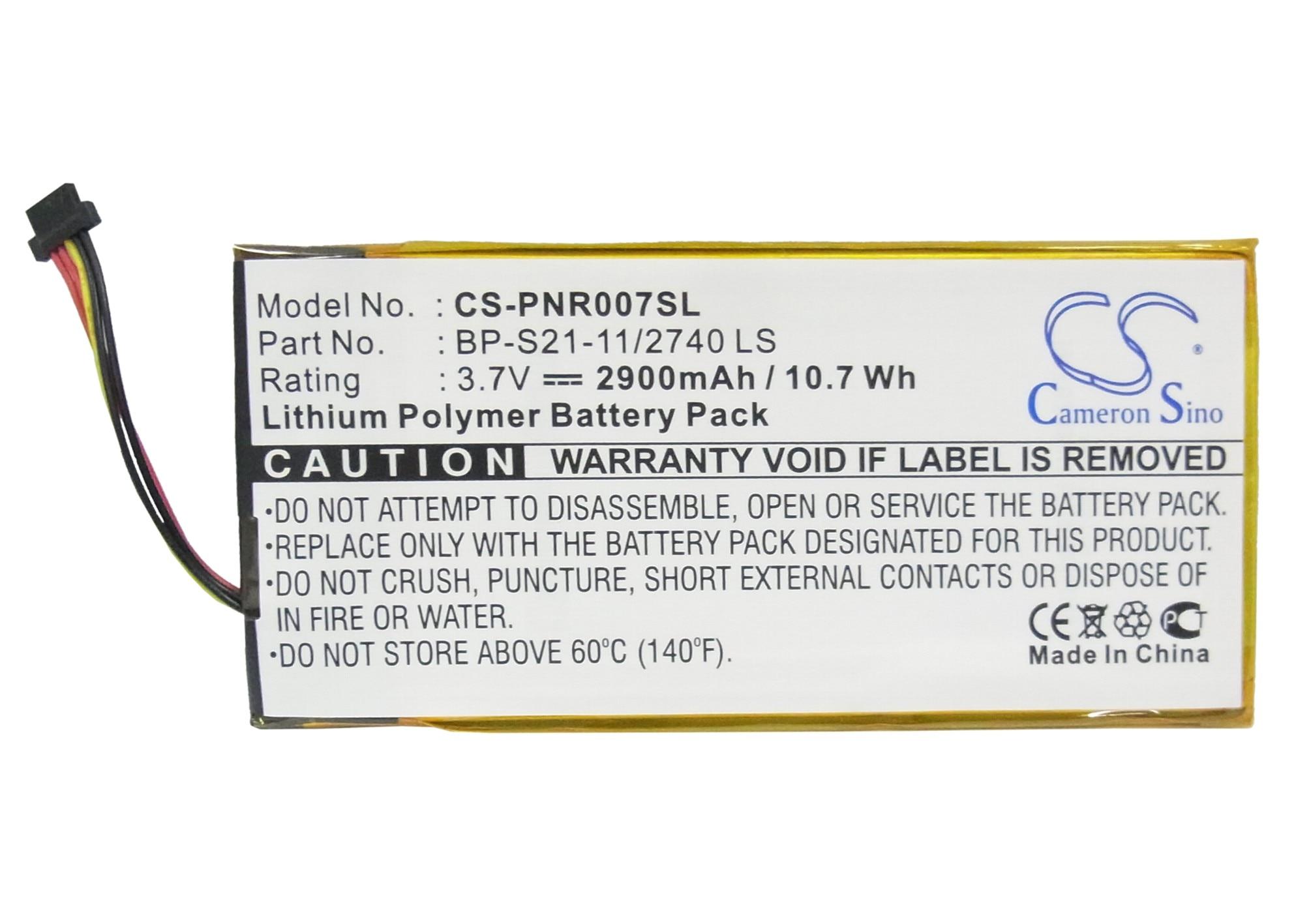 Cameron Sino 2900mAh batería de la batería BP-S21-11/2740 ¿Para Pandigital novela 7 PRD07T20WBL1