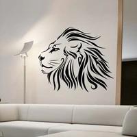 ZOOYOO-autocollant mural Lion animaux a la mode   Decor de maison  stickers muraux amovibles pour salon  decoration de chambre