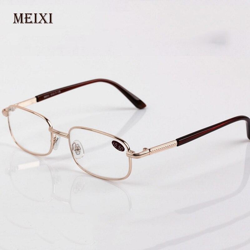 גברים נשים התאגרף קריאת משקפיים זכוכית עדשות פרסביופיה סגסוגת מסגרת יוניסקס Eyewear + 0.5 + 0.75 + 1.25 + 1.75 + 2.25 + 2.75 + 3.25 + 3.75
