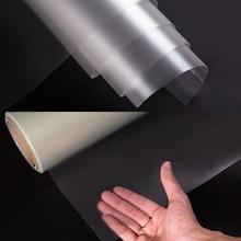 Mermer mobilya sticker şeffaf katı ahşap yemek masası koruyucu film Şeffaf Mat Masa koruma filmi 1.52x0.5 m
