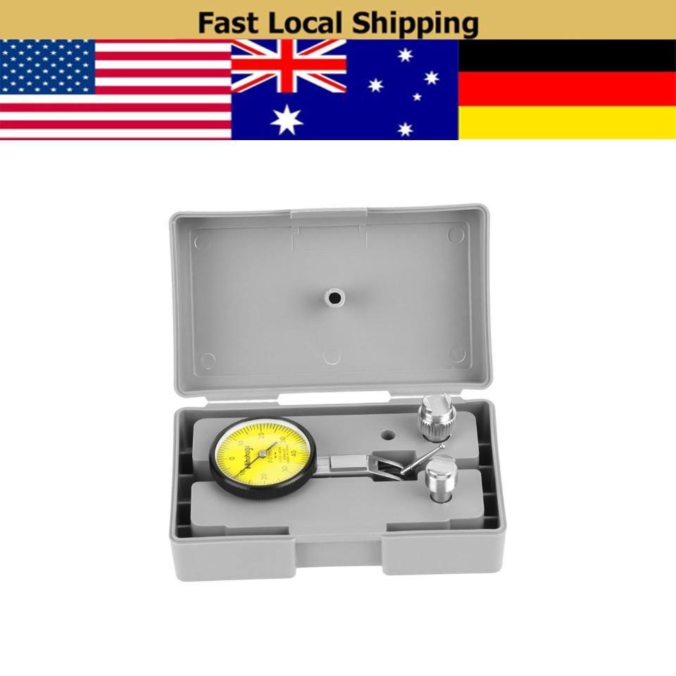 Medidor de Dial precisión 0,01mm Dial de palanca indicador medidor herramienta Kit Gage con caja de medidor de presión gris