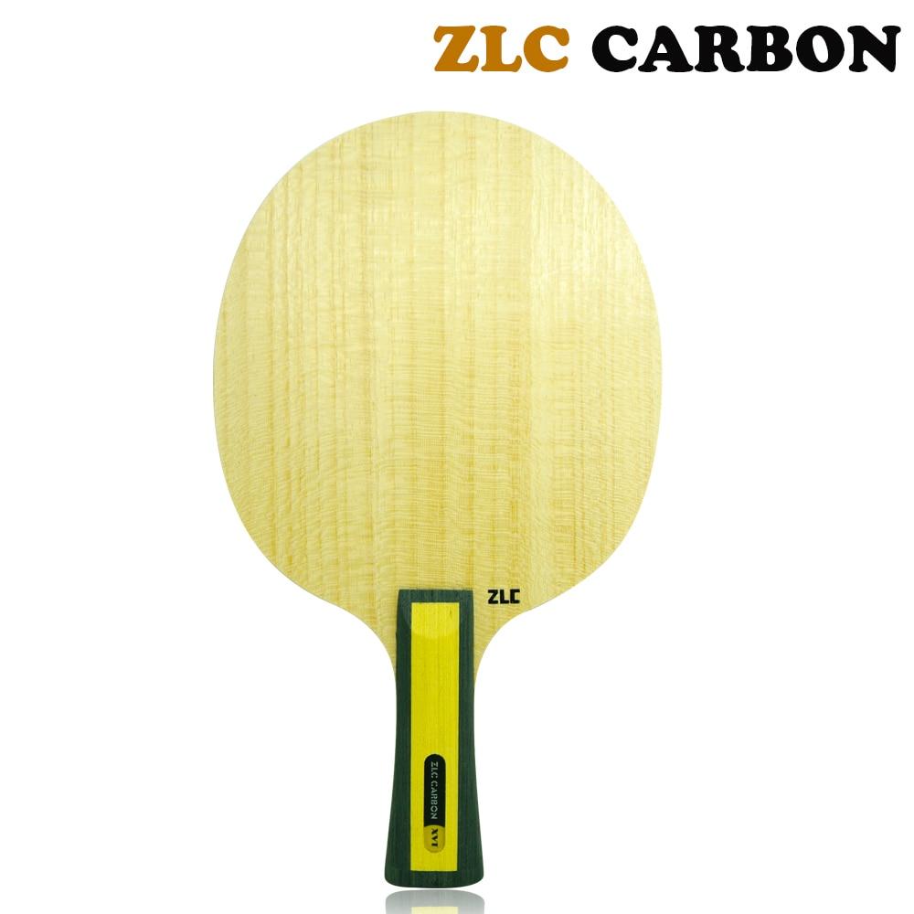 Hoja de tenis de mesa de carbono XVT ZLC/hoja de ping pong/bate de tenis de mesa de rápida velocidad de fuerte giro