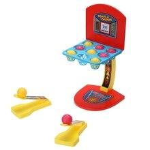 Machine de basket-Ball pliante bureau balle doigt panier de basket-Ball pliable paume Mini tir ensemble de basket-Ball pour enfant jouer à des jouets de jeu