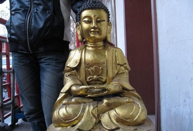 Song voge-Statue de bouddha   Bijou, S0429, Tibet temple Fane Bronze, Tathagata Amitabha RuLai