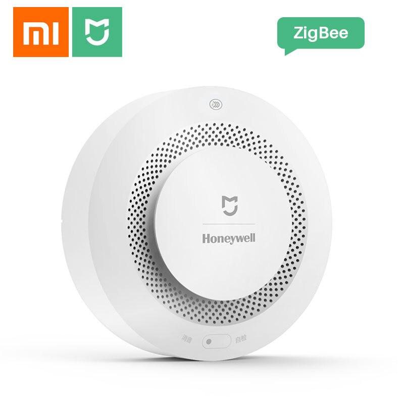 Xiaomi-كاشف الدخان Mijia Honeywell ، المنزل الذكي ، إنذار الحريق ، يعمل مع Xiaomi Gateway 2 عبر تطبيق Mi Home