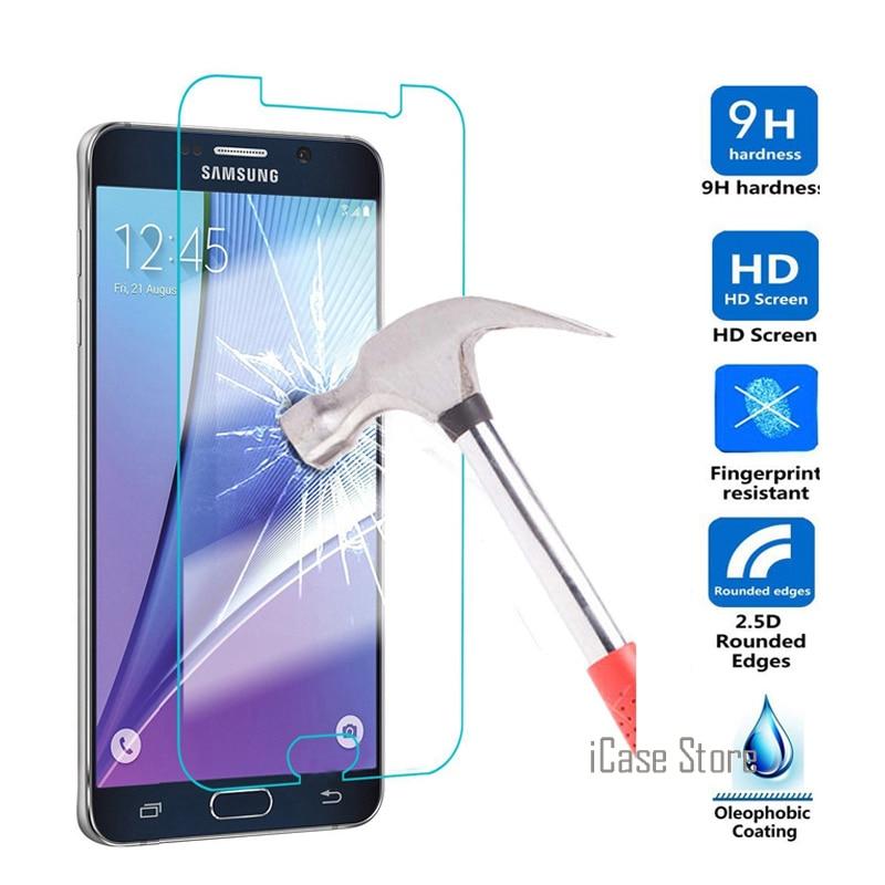 Protector de pantalla de cristal templado para Samsung Galaxy A3, A5, A7, 2016, S7, S5, S4, S3, J1, mini, J2, J3, J5, J7, 2016 Core, 2 x cover, 3, S6 Active