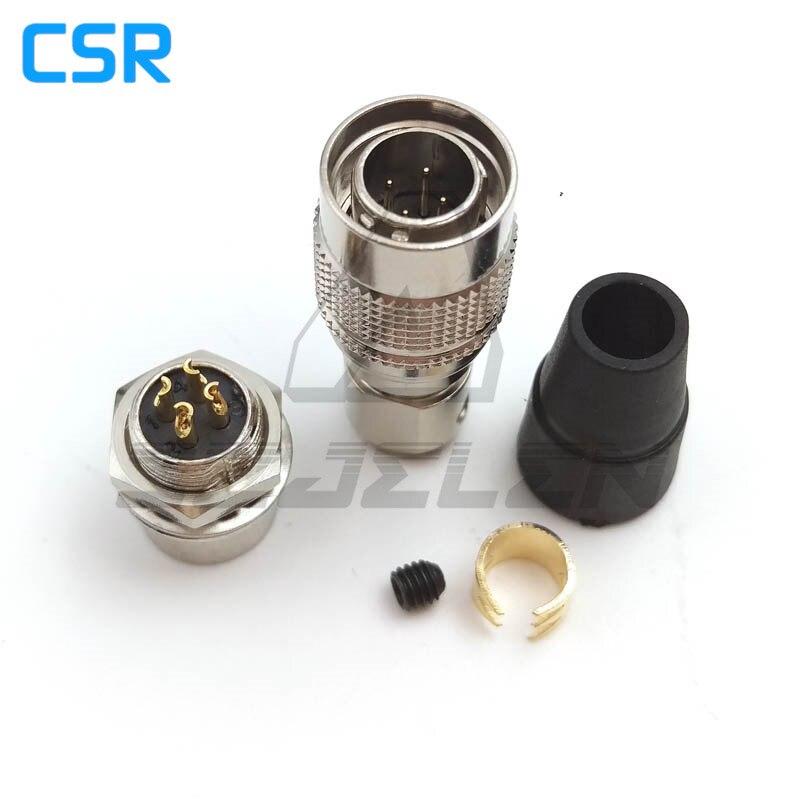 Conector Hirose de 4 pines macho y hembra pareja, HR10A-7P-4P/HR10A-7R-4S, enchufe de cámara de equipo de grabación