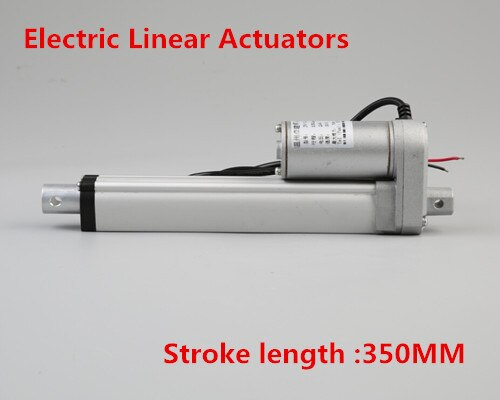 2 pcs 12 v DC 350mm de Curso Atuadores Lineares 1500N/150 kg 6 mm/s Max Elevador de Carga Linear motor Elétrico para a Cama 330lbs