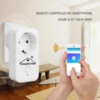 Timethinker     prise WiFi pour maison intelligente WS2  prise EU US UK pour Apple Homekit Siri Alexa Google Home  prise de telecommande
